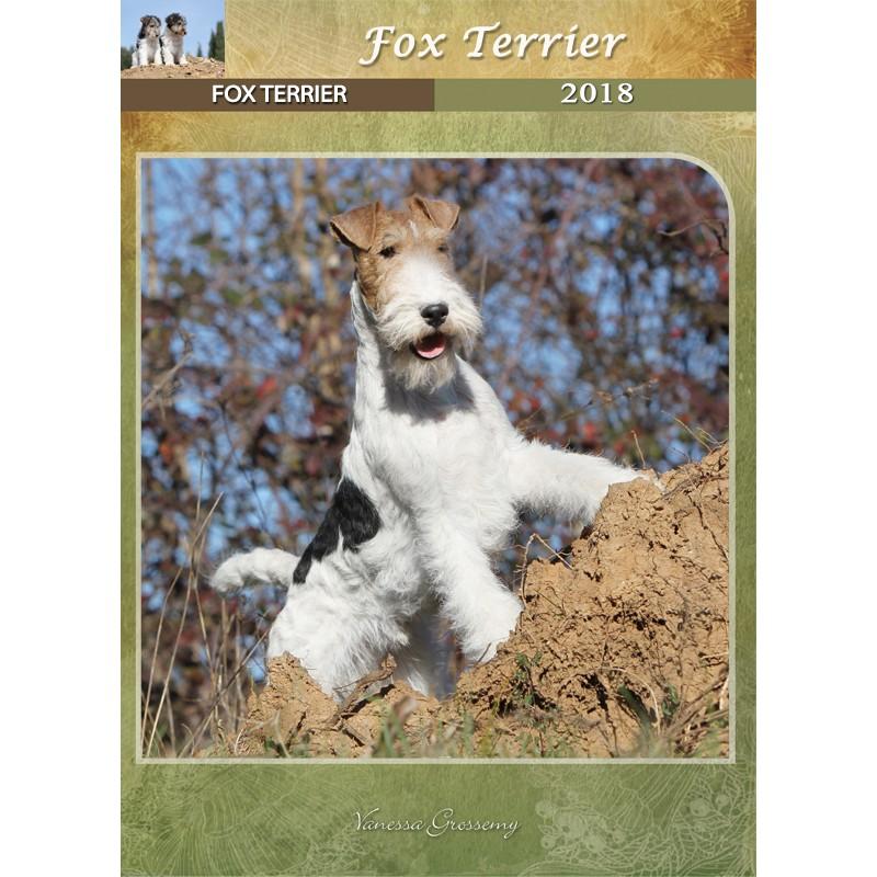 Calendario Fox.Calendario Fox Terrier De Pelo Duro 2018